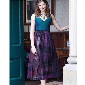 Anthro Niki Mahajan Montage Midi Dress